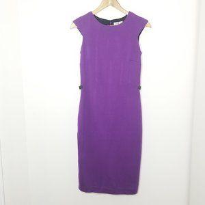 🆕 Precis Purple Midi Length Sheath Dress Stretch